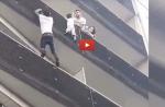 Paris : un homme escalade à mains nues la façade d'un immeuble pour sauver un enfant