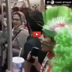 Des supporters Iraniens à la coupe du Monde de foot. Mais des supporters très courageux…